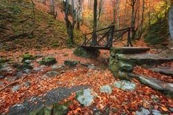 ?utumn landscape near the town of Teteven, Stara planina Mountains, Bulgaria