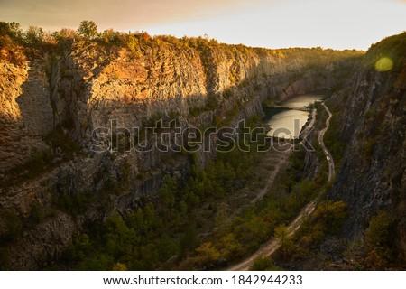Velka Amerika quarry near Prague                            Stok fotoğraf ©