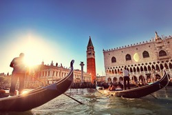 Venice Canal. Beautiful Gondola.