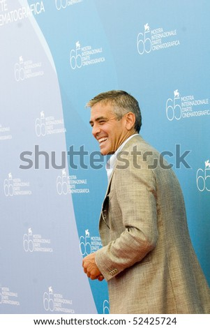 VENICE, ITALY - AUGUST 27: Actor George Clooney arrives for the 'Burn After Reading' Photocall part of the 65th Venice Film Festival at Palazzo del Casino on August 27, 2008 in Venice, Italy.