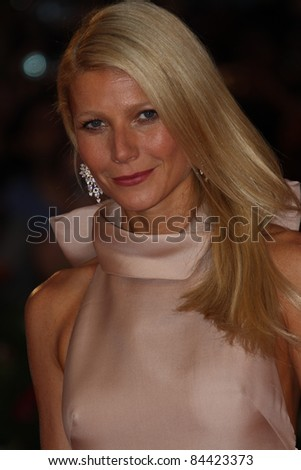 VENICE, ITALY - SEPTEMBER 03: Actress Gwyneth Paltrow attends 'Contagion' Premiere at Palazzo del Cinema on September 3, 2011 in Venice, Italy.