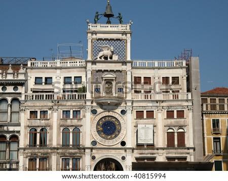 Venice - The Torre dell'Orologio on St Mark's Square