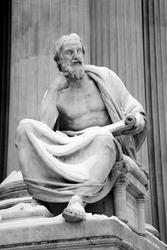 Vienna - philosopher statue for the Parliament - Herodotus