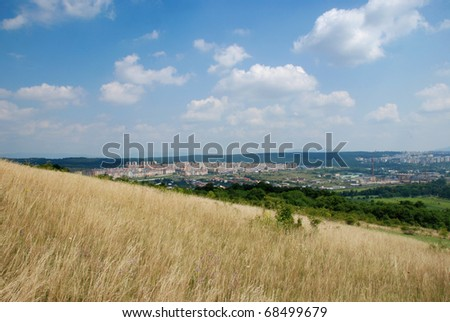 View at the Slovakian City of Kosice from the hill