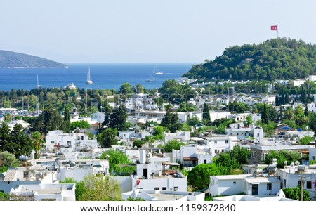View from Bodrum coast. Bodrum is one of the most popular summer destinations on Turkey  #1159372840