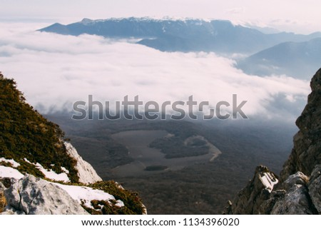 View from the exhaustion of Mount Chatyr-dag