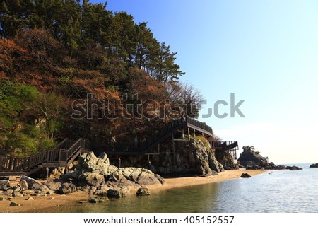 View of Dadaepo beach, Busan, Korea