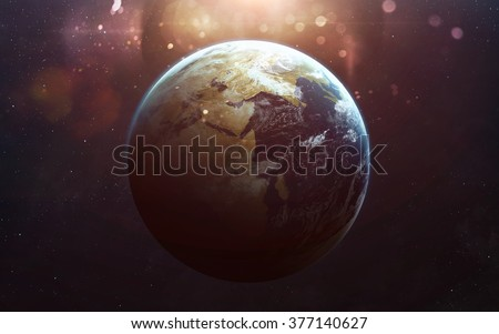view of earth from space....