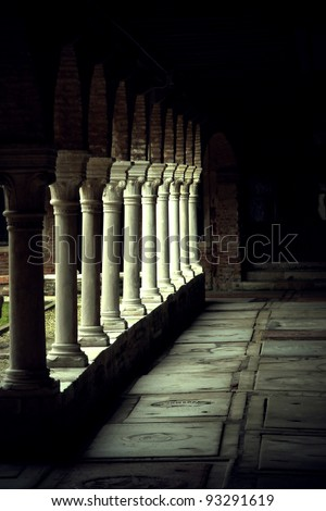 View of Venice the San Francesco della Vigna cloister