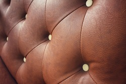 Vintage brown leather sofa