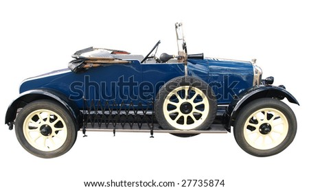 1924 Vintage Car isolated with clipping path
