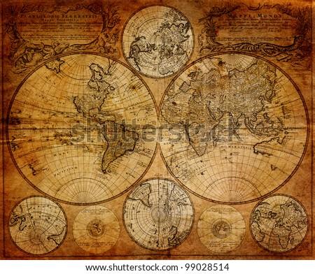 vintage map 1746 johann...