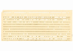 Vintage punched card for computer data storage vintage