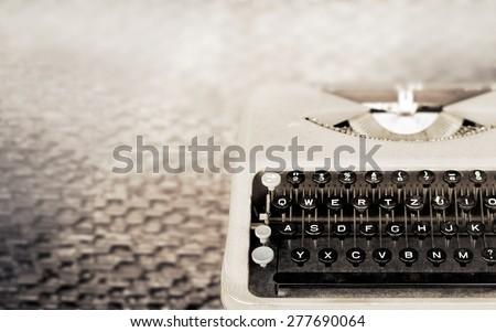 Vintage Typewriter, Antique Typewriter, Vintage color tone and soft focus