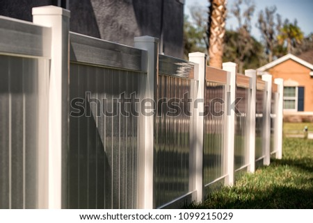 Vinyl Fence Solid Privacy #1099215029