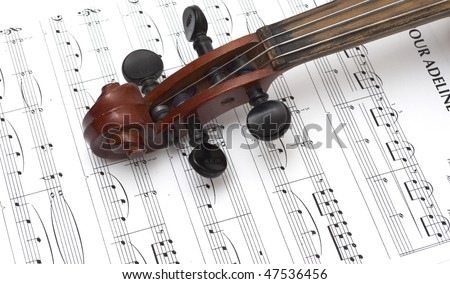 Violin and musical score