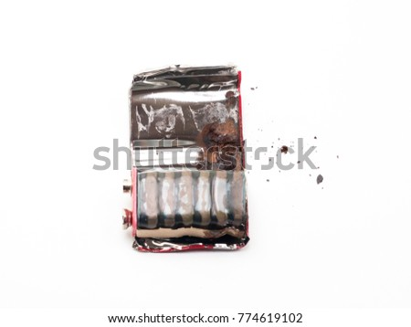 9 volt battery is damaged and rusty #774619102