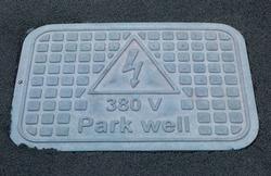 380 volt sign Park well.
