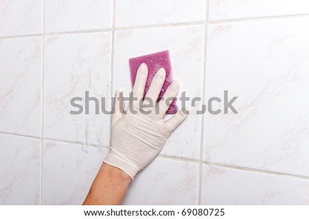 Wall cleaning.