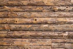 Wall of log