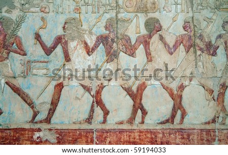 Wall ornament at the Hatshepsut Temple, Egypt