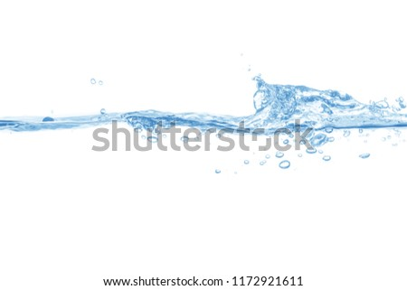 water splash isolated on white background,water  #1172921611