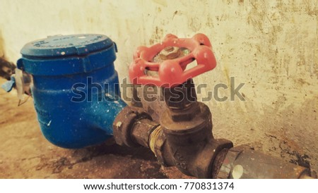 Water tap connected meter for consumption measuring of a water  - Shutterstock ID 770831374
