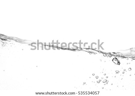 Water waves splash isolated on white background #535534057
