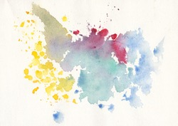 watercolor hand painting, watercolor gradient background, watercolor spatter