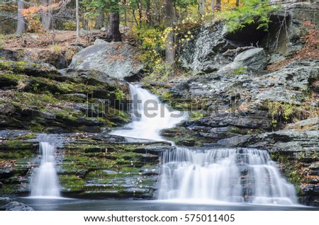 4 waterfalls. Fall Foliage. George W Childs State Park. Dingmans Ferry, PA