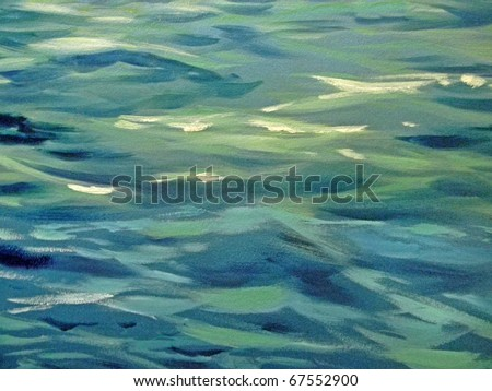 wave abstract in green and blue hues
