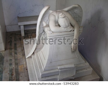 Weeping Angel in New Orleans - stock photo