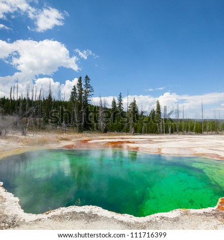 West Thumb Geyser Basin in Yellowstone National Park