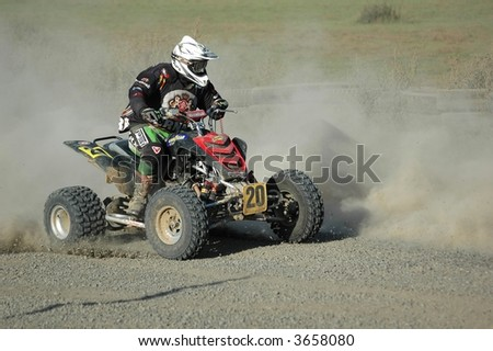 4wheeler, active, atv, bike, circuit, competition, dirt, dust, - stock photo