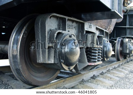 Wheels of the Train - stock photo