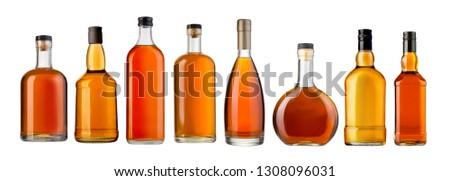 whiskey bottleы isolated over a whte background  #1308096031