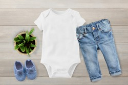 4 White and black baby t-shirt mockup Bella Canvas Unisex baby One Piece Flat Lay white Flat Lay Basic Flat Lay toddler mock up