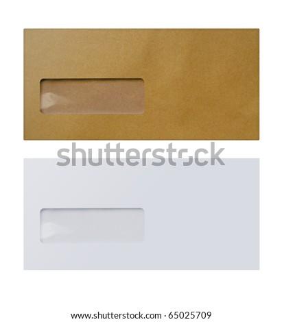 1 White &  1 brown envelope