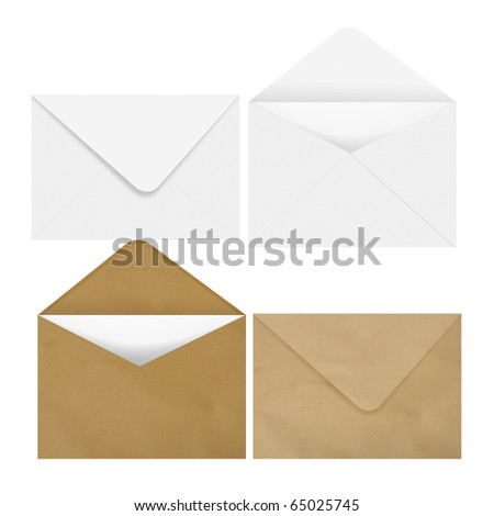2 White & 2 brown envelope