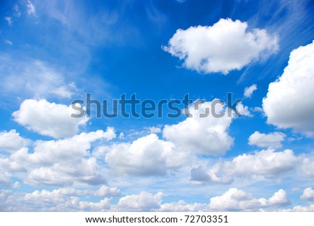 white clouds - stock photo