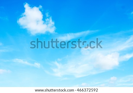 White clouds in the blue sky. - Shutterstock ID 466372592