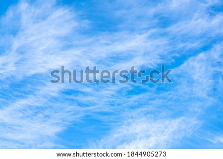 White clouds on blue sky for background ストックフォト ©