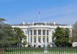 White House South Lawn View Washington DC