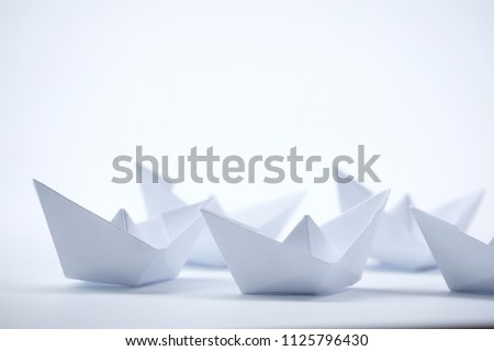 white paper boats #1125796430