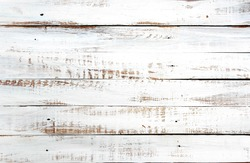 white rustic wood plank texture background. top view