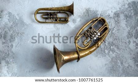 Wind instrument. Trub, alt.Musical wind instrument #1007761525