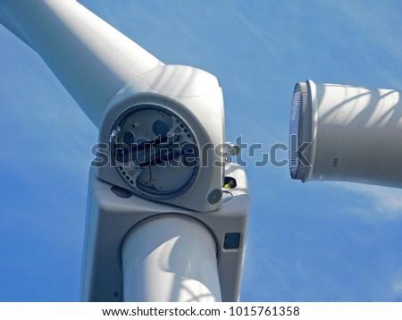 Wind turbines erection at sea
