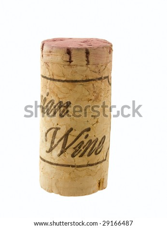 wine stopper with sign on white background isolated