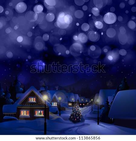 Winter landscape. Merry Christmas!