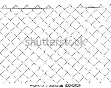 wire fence isolated on white #52242529